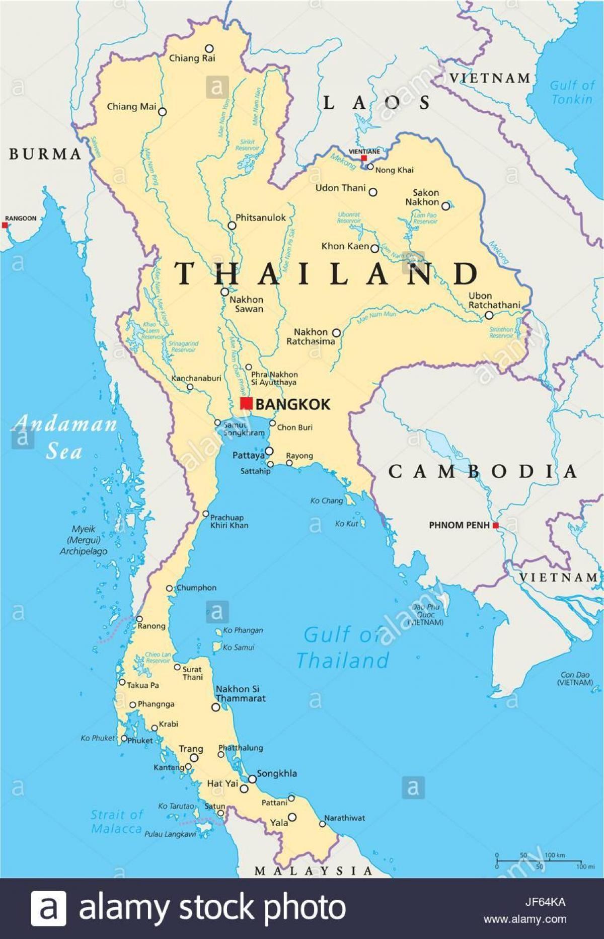 Bangkok Umisteni Na Mape Sveta Bangkok Thajsko Mapa Sveta Thajsko