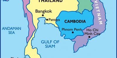 Bangkok Mapa Mapy Bangkoku Thajsko